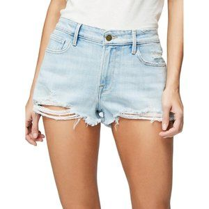 NWT FRAME Le Grand Garcon Distressed Jean Shorts